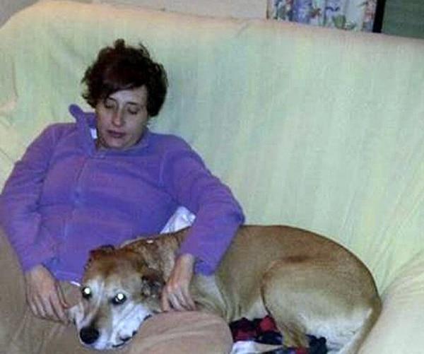 En la gráfica, Teresa Romero, la auxiliar de enfermería infectada de ébola, que posa con su perro Excálibur.