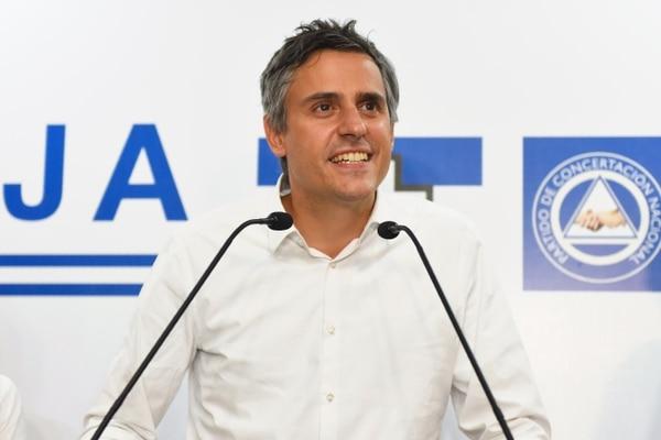 Carlos Calleja, excandidato presidencial por la Alianza Republicana Nacionalista, dio cuna conferencia de prensa el domingo 3 de febrero del 2019, poco después de conocer su derrota. (Photo by Oscar Rivera / AFP)