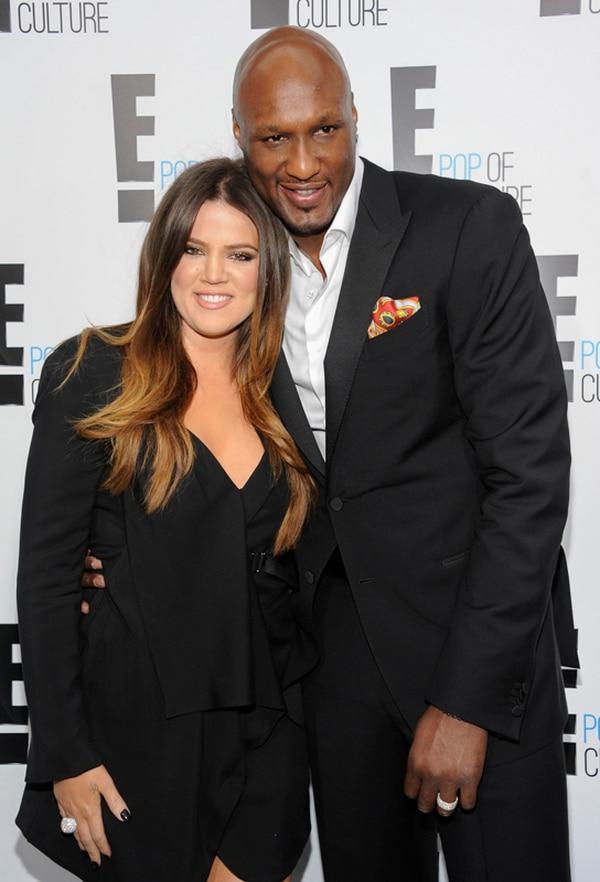 Khloe Kardashian y Lamar Odom se casaron en el 2009 tras un noviazgo de apenas un mes, su boda fue todo un espectáculo.Foto: Archivo/AP.