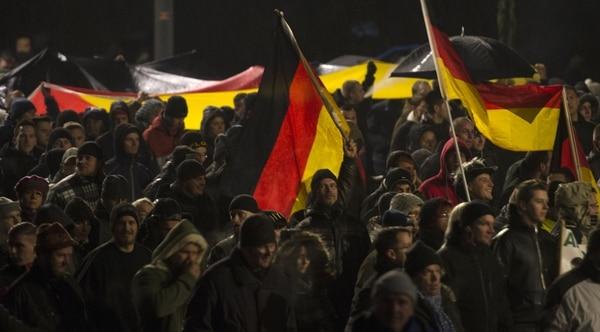 Manifestación de Pegida en Dresden