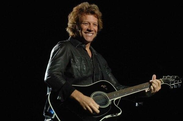 El cantante Jon Bon Jovi y su banda se presentaron el domingo en el estadio Saprissa, en Tibás. Foto: Juliana Barquero