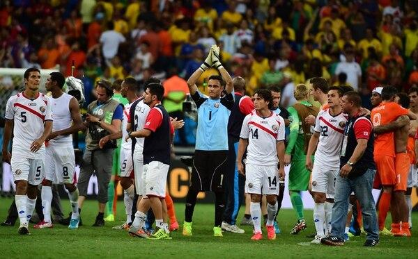 Costa Rica quedó eliminada en cuartos de final del Mundial por Holanda. Luego pasó a ser el mejor equipo de Concacaf en el ranquin FIFA.   ARCHIVO