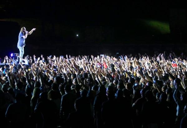 21/08/2018 Pedregal. Unas 8.000 personas, principalmente jóvenes, disfrutaron del concierto con las bandas australianas de corte cristiano, Young and Free y Hillsong United (en la foto). Foto: Rafael Pacheco
