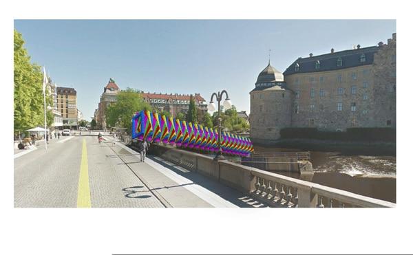 Downward Spiral se ubicará en un costado del Castillo de Örebro, una edificación medieval de la ciudad sueca.