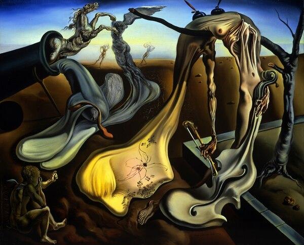 Conocido. Papaíto piernas largas al atardecer (¡Esperanza!) es una reconocida obra creada en 1940. Salvador Dalí. Fundación Gala-Salvador Dalí, (Artist Rights Society), 2013, para La Nación.