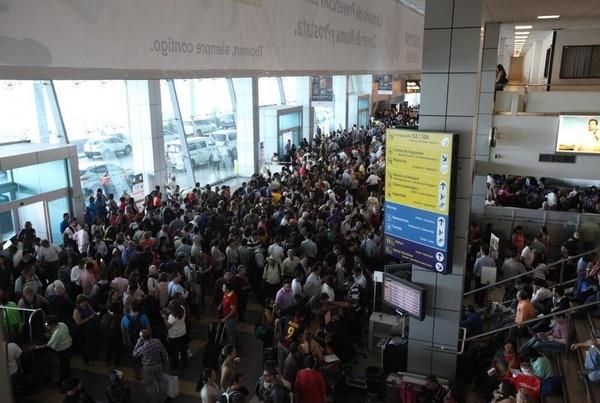 Así lucía este domingo la terminal de Tocumen.