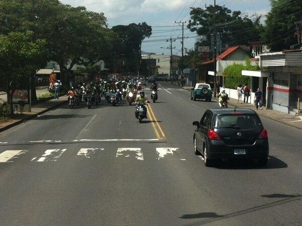 La marcha transcurrió sin problemas. Los motociclistas permanecen 100 al este de la Presidencia. | CARLOS GONZÁLEZ