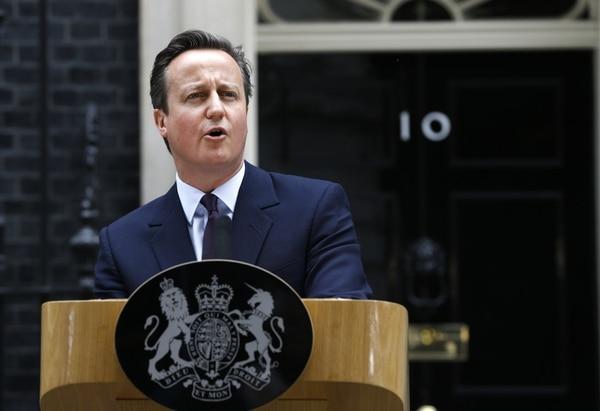 El primer ministro conservador David Cameron, dio su discurso de victoria este viernes en Londres.