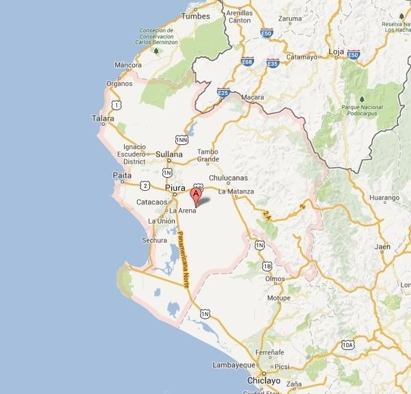 Derrame se produjo en la región de Piura, en la frontera con Ecuador. Foto: Reproducción