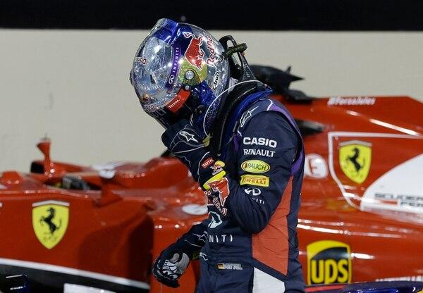 Sebastian Vettel corrió su última carrera el domingo en Red Bull.   AP