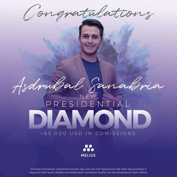 Asdrúbal Sanabria es de Cartago. Al igual que Allan Badilla es un reconocido networker y se ha ubicado muy bien en la compañía Melius. Tiene el rango de Presidential Diamond. Tomada de Facebook