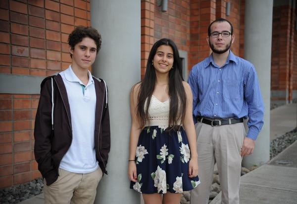 Marlon Taylor Vega, Catalina Porras Silesky y Diego Murillo Hernández obtuvieron las mejores tres promedios en el examen de admisión del ITCR.