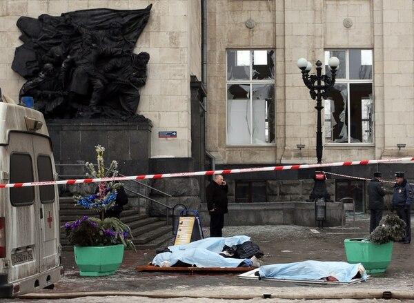 Escena del ataque terrorista en Volgograd, Rusia.
