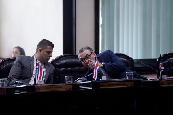 Los diputados del PLN Daniel Ulate y Roberto Thompson, son dos de los promotores de la iniciativa. Foto: Archivo/Diana Méndez