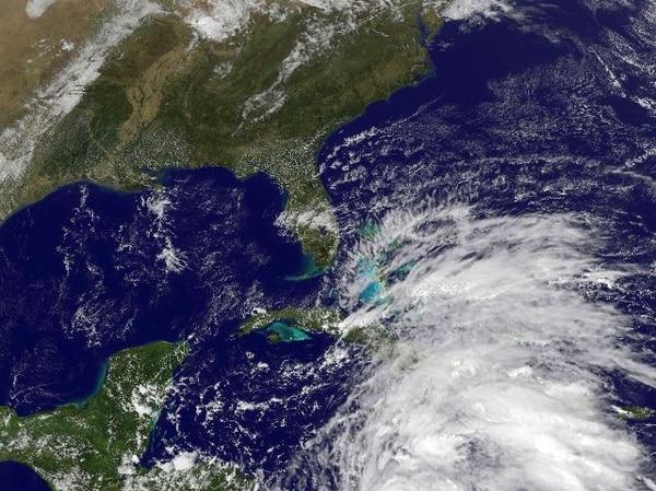 Imagen satelital del huracán Sandy. | AFP