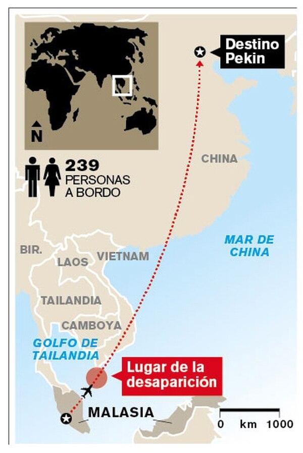 Mapa de ubicación del accidente aéreo.