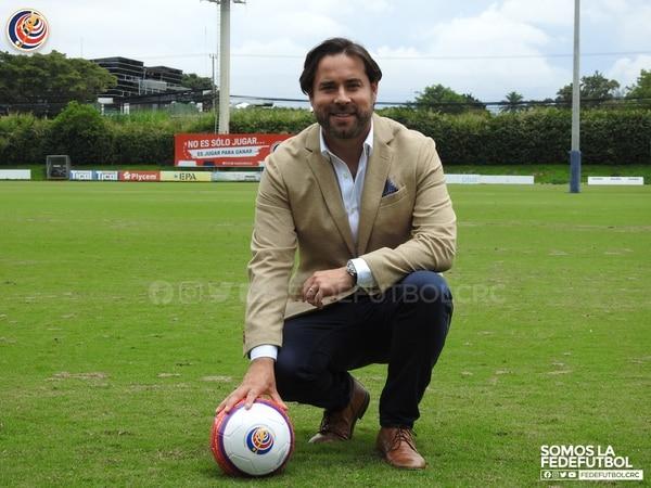 Gustavo Araya es el nuevo Secretario General de la Fedefútbol. Fotografía: Prensa Fedefútbol