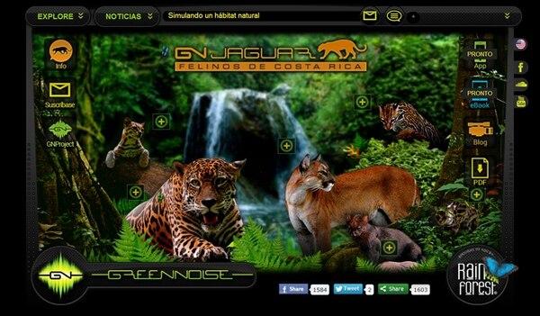 La plataforma digital es interactiva y permite a los visitantes escuchar, ver y aprender sobre seis de los 12 felinos presentes en América.   GREEN NOISE PARA LN