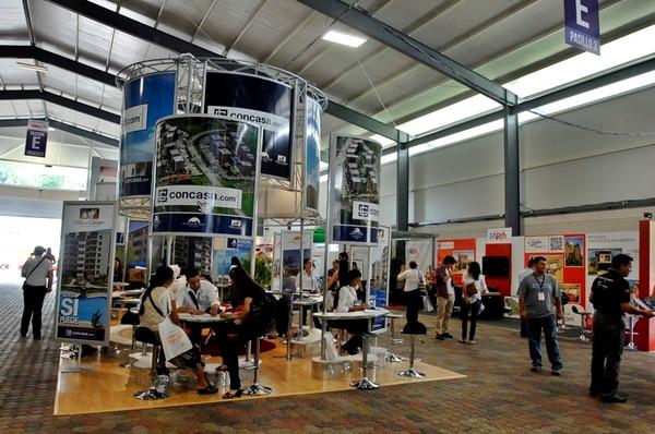 Imagen de archivo de la Feria Expoconstrucción. La construcción registró una caída de 10,7% en julio pasado respecto al mismo mes del año anterior. Foto: Adriana Araya