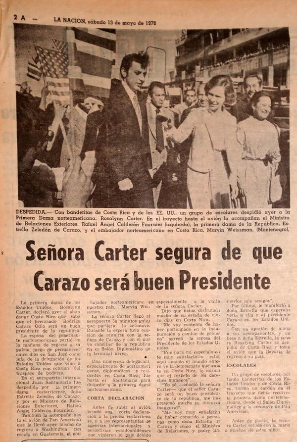 Reproducción de La Nación del 13 de mayo de 1978.