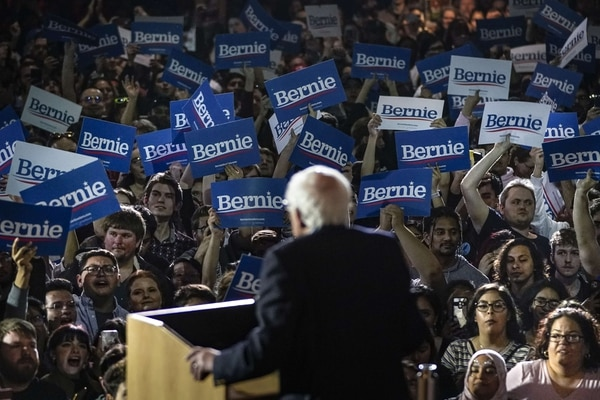SAN ANTONIO, TX - FEBRUARY 22: Democratic presidential candidate Sen. Bernie Sanders (I-VT) speaks after winning the Nevada caucuses during a campaign rally at Cowboys Dancehall on February 22, 2020 in San Antonio, Texas. With early voting underway in Texas, Sanders is holding four rallies in the delegate-rich state this weekend before traveling on to South Carolina. Texas holds their primary on Super Tuesday March 3rd, along with over a dozen other states Drew Angerer/Getty Images/AFP == FOR NEWSPAPERS, INTERNET, TELCOS & TELEVISION USE ONLY==