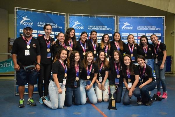 Tarrazú volvió a coronarse campeón del balonmano femenino en los Juegos Nacionales, al derrotar en la final a Desamparados 28 -24. Cortesía Icoder