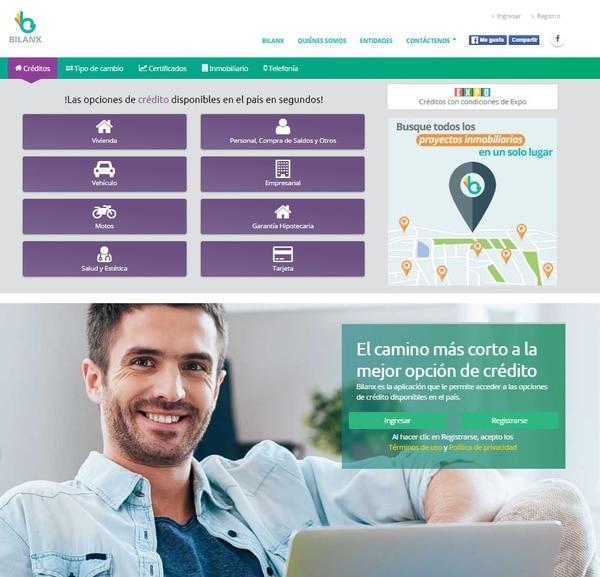 La plataforma Bilanx ofrece la posibilidad de comparar las opciones de crédito de las diferentes entidades financieras del país.