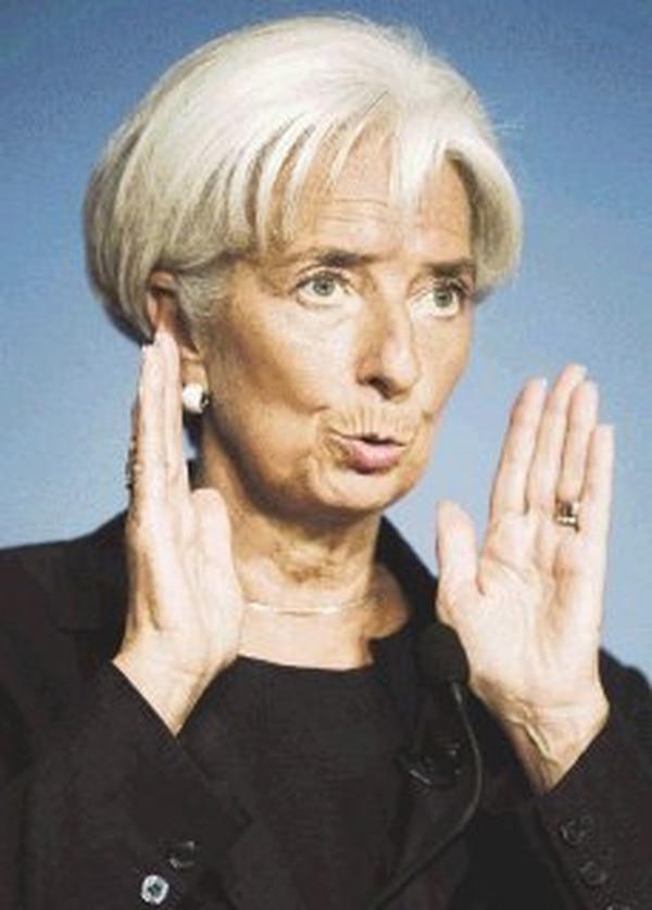 Christine Lagarde trazó luces sobre el recorte de la previsión. | AFP