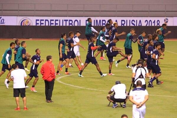 La Selección de Panamá reconoció el Estadio Nacional esta noche.