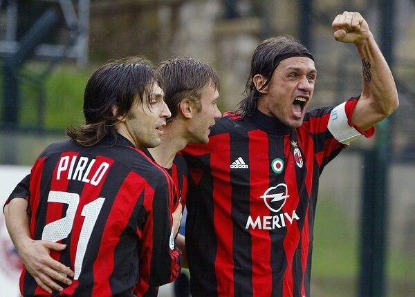 Paolo Maldini fue capitán del AC Milan.