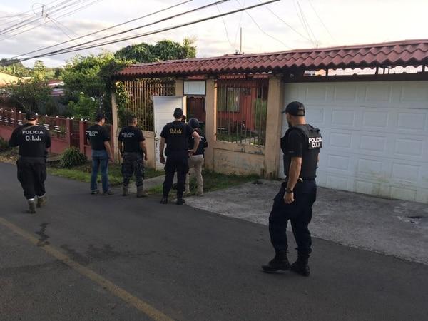 En total se realizaron 15 allanamientos en Limón y uno en San José.
