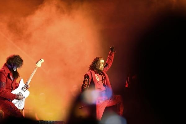 El cantante Corey Taylor dijo que nunca olvidarían su primer concierto en Costa Rica. Foto: Jorge Castillo