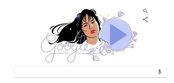 Doodle en honor a Selena