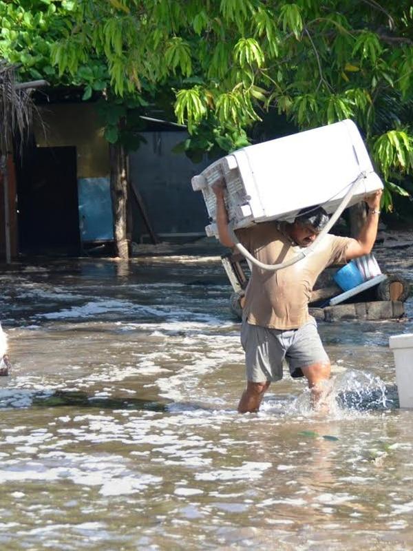 Los vecinos de Caldera ya han tenido emergencias por mareas. | ARCHIVO