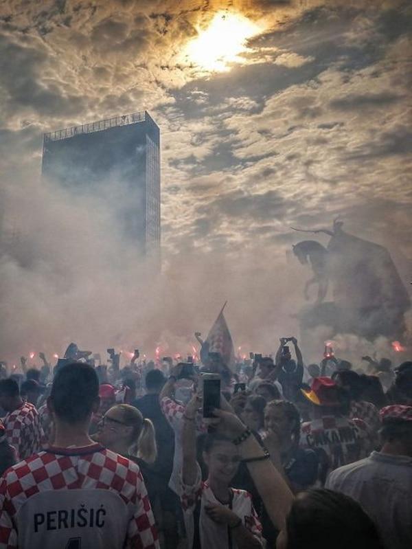 Zagreb fue una fiesta durante el Mundial de Rusia 2018, debido al buen desempeño de la selección de Croacia. Fotografía: Esteban Antillón Polini