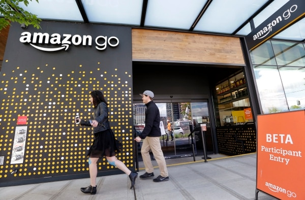 Amazon Go. (AP Photo/Elaine Thompson, File)