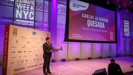 Carlos Alvarado inaugura la Semana del Clima en Nueva York