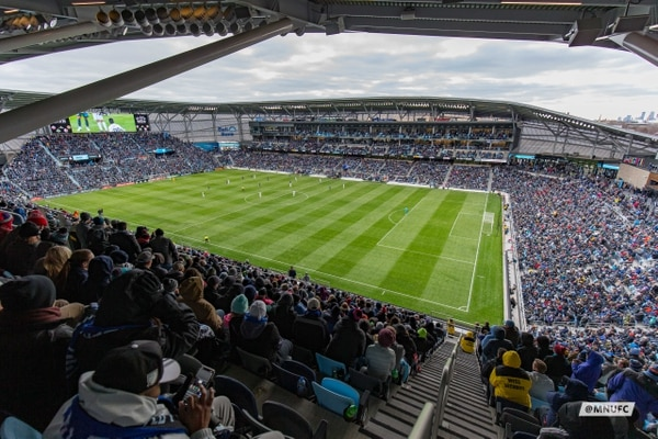 El Allianz Field tiene capacidad para 19.400 personas. Fotografía: Minnesota United.