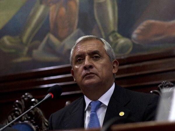 Fotografía de agosto del 2012 del expresidente Otto Pérez, quien actualmente se encuentra en prisión preventiva desde su renuncia a la presidencia en septiembre de 2015, cuatro meses antes del final de su mandato. Foto: AP