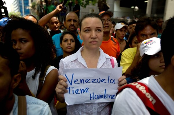 Una protesta en el municipio de Chacao, Venezuela.   AP