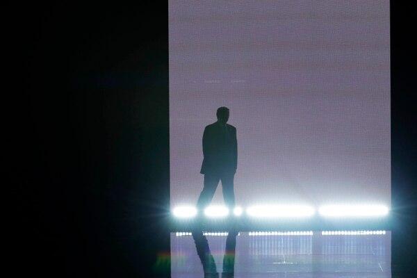 Donald Trump sale al escenario durante la presentación oficial de su candidatura a la presidencia de los Estados Unidos