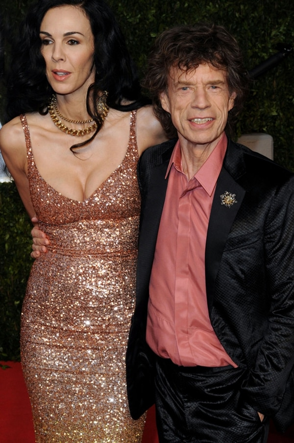 Mick Jagger y la diseñadora L'Wren Scott mantuvieron un noviazgo durante 13 años. La mujer fue encontrada muerta en su apartamento de Nueva York en el 2014. Fotografía: AFP