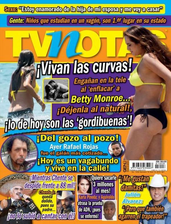 Esta es la portada de TV Notas que generó la controversia en torno a Rafa Rojas.