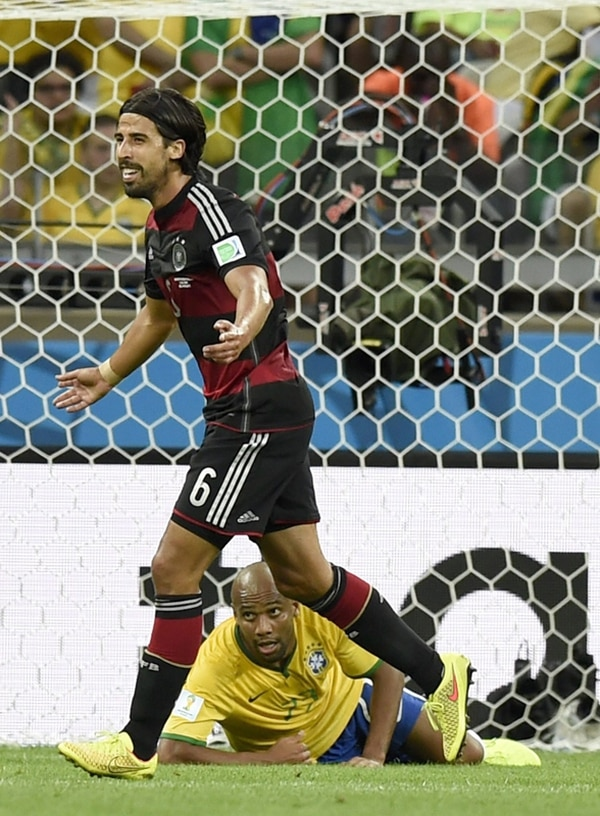 Khedira anotó en la goleada de Alemania contra Brasil. | EFE