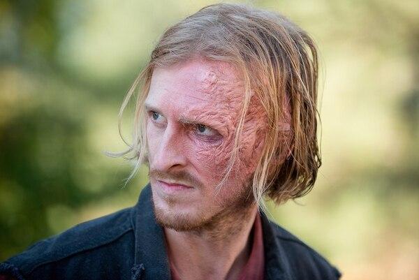 El maquillaje del personaje dura casi una hora realizándose.Foto: AMC.