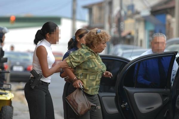 En febrero del 2007 la abogada fue detenida por otra causa en las cercanías del antiguo cine Líbano, San José.