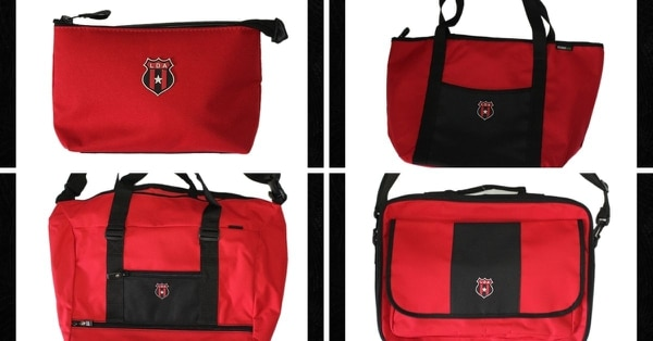 Desde cosmetiqueras hasta maletines deportivos son parte de los productos oficiales del club. Fotografías: Prensa Alajuelense