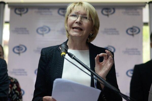La fiscala general Luisa Ortega brindó una conferencia de prensa este miércoles en Caracas.