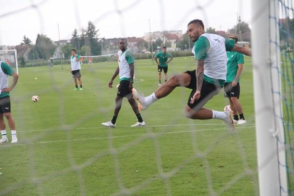 David Ramírez en un entrenamiento del Omonia Nicosia de Chipre. Fotografía: Facebook David Ramírez.