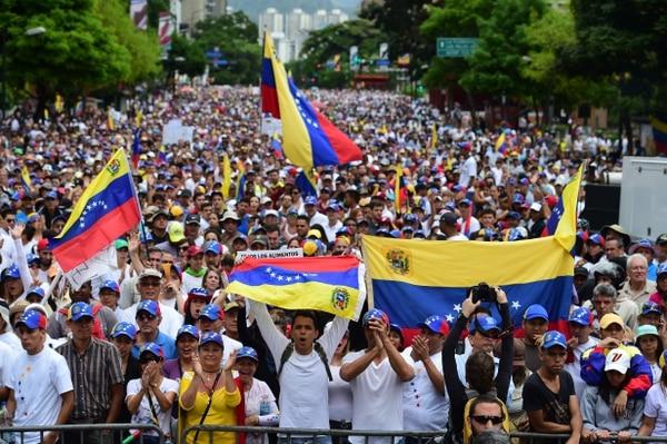 Protestas del 1 de mayo en Venezuela.
